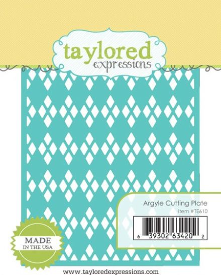 TE610 ~ ARGYLE CUTTING PLATE ~ dies by Taylored Expressions